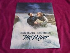 "Universal Picture 1984  movie,"" THE RIVER ""Movie program Mel Gibson/Sissy Spacek"