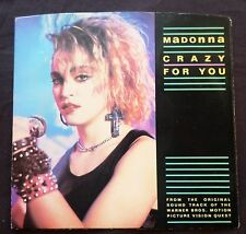 MADONNA . Crazy For You / No More Words 1985 Geffen 45 rpm & Picture Sleeve W826