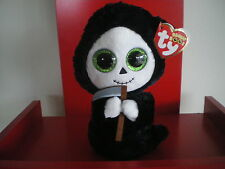 Ty Beanie Boo GRIMM the ghost 6 inch NWMT.  HALLOWEEN BOOS - NEW AND N HAND NOW