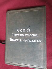 Cooks International Travelling Tickets Wallet 1918 & handbill for travel insuran