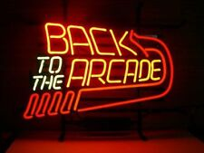 New Back to the Arcade game room Real Beer bar Glass Neon Light Sign FREE SHIP