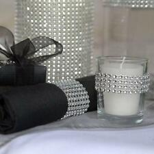 "4.75""x 1 yard DIAMOND MESH WRAP ROLL SPARKLE RHINESTONE Crystal Ribbon Decor G16"