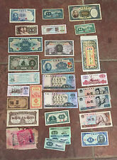 SPECTACULAR GROUP LOT of 28 GENUINE CHINA BANK NOTES & INTERESTING PAPER (A)