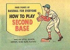 FINER POINTS OF BASEBALL HOW TO PLAY SECOND BASE MINI COMIC GIVEAWAY PROMO RARE