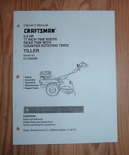 CRAFTSMAN 917.293300 TILLER OWNERS MANUAL WITH ILLUSTRATED PARTS LIST