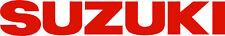 """#379 (2) 6"""" Suzuki Logo Motorcycle Window Decals Stickers GLOSS ORANGE"""