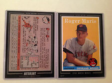 1958 ROGER MARIS INDIANS RC HOF 2016 Topps Anthology 5X7 Silver #ed/49 made