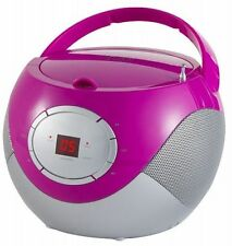 Tragbarer Kinder CD-Player Radio Boombox Musikanlage Tragbares CD-Radio PINK NEU