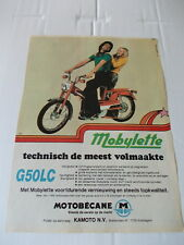 Original magazine Advert. of the 70s - Mobylette G50LC van Motobecane - A4