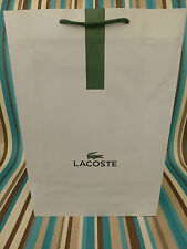 Hard paper gift bag Lacoste medium tall white paper shoppers carrier bags NO tag