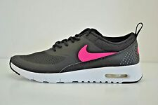 Nike Air Max Thea Running Shoes Youth Sz 6 = Womens Sz 7.5 Black Pink 814444 001