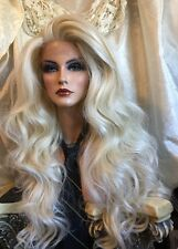 Stunning, HUMAN HAIR BLEND, Long 613 Pale Blonde, Lace front, HF  Wig!