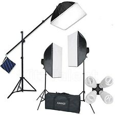 Deluxe Photo Studio Photography Lighting Kit Stand White Softbox Umbrella Camera
