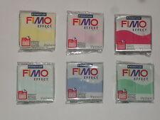 Lot de 6 pâtes fimo effect différentes couleurs, double effet translucide/nacrée