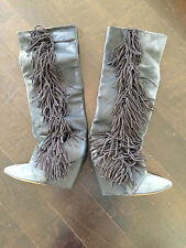 Gorgeous Isabel Marant gray and black fringe boots! Size 37!