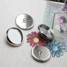 Cabochon Setting Silver 25mm inner add Resin Glass Polymer Clay Button 20