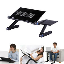Adjustable foldable laptop Notebook desk Table W/ Fans Stand Portable Bed T
