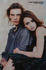 LILY COLLINS & JAMIE CAMPBELL BOWER - A3 Poster (ca. 42 x 28 cm) - Clippings NEU