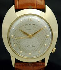 1957 SOLID 14K GOLD HAMILTON ELECTRIC Spectra WATCH Unique SATURN 500A RARE VTG