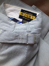 """RUGBY Ralph Lauren Railroad Hickory Striped Pants Cinch Back 30"""" x 33"""" Polo RRL"""