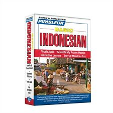 NEW 5 CD Pimsleur Learn to Speak Basic Indonesian Language