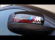 Pair Of BMW M POWER M3 M5 M6 X5 X6 MTEC TEC E39 E60 mirror Sticker_WHITE