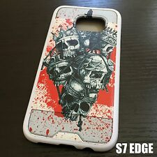 For Samsung Galaxy S7 Edge - HYBRID HIGH IMPACT CASE COVER RED SKULL CROWN NET