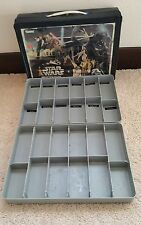 VINTAGE STAR WARS ACTION FIGURE A NEW HOPE CASE W/ INSERT TRAYS