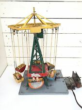 Motorized Salesman Sample Tin Carnival Amusement Park Ride Toy Mechanical RARE