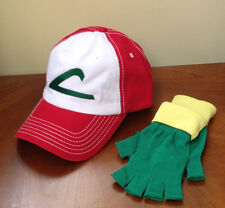 POKEMON GO - Ash Ketchum Pokemon Trainer Set  -  Hat & Gloves - ADULT