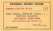 1959-60 Boston Bruins Season Ticket Pass Don McKenney Lady Byng Trophy Assists
