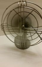 "Vintage Gray 12"" Ocilatein Cage Table/Wall Electric Fan Working"