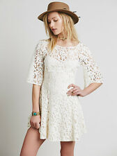 NWOT Free People Gypsy Mountain Mini Lace Dress 8