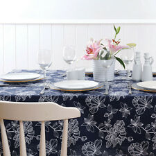 Cheshire Indigo - Tablecloth 150 x 260cm Polyester / Cotton - by Ladelle