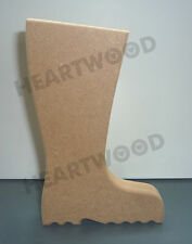 WELLINGTON BOOT SHAPE IN MDF (136mm x 18mm thick)/WOODEN CRAFT SHAPE/WELLY
