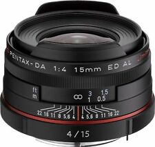 New PENTAX HD PENTAX-DA 15mm F4 ED AL Limited Lens Black for K Mount