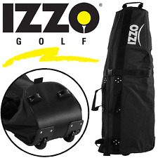"""50% OFF"" IZZO GOLF DELUXE WHEELED PADDED GOLF BAG FLIGHT COVER TRAVEL COVER"