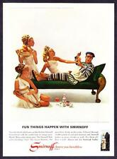 "1967 Comedy Actor Phil Silvers photo ""Fun Things Happen"" Smirnoff Vodka print ad"