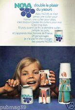 Publicité advertising 1973 Le Yaourt Yoghourt Nova