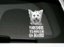 Yorkshire Terrier On Board, Car Sticker, High Detail, Great Gift For Dog Lover