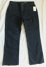 NWT D & Co Dark Blue Bootcut Stretch Jeans w/Tummy Panel - Size 12P