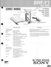 Sony Original Service Manual für SRF-F 1