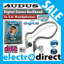 Ultra lightweight Audus Digital SuperBass Hi-Fi Stereo Neckband In-Ear Headphone