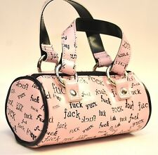 CYLINDER PINK 'F' WORD COSMETIC PURSE  BY ADDICTED PUNK GOTHIC ROCKABILLY TEEN