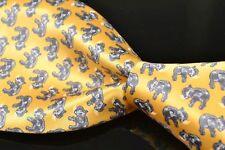 "STEFANO RICCI Luxury Gold Elephant Satin 100% Silk Mens Luxury Tie XL - 4.00"""