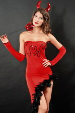 Sexy Women's Red Devil Halloween Fancy Dress Costume Party