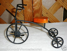"TRICYCLE~Miniature~Wood & Black Metal~Stationary~Display Decor~7"" X 5""~FREE SHIP"