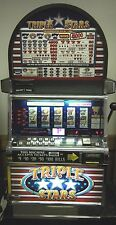"IGT S2000 COINLESS SLOT MACHINE ""TRIPLE STARS 5 REEL  *"