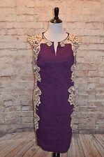 Modcloth Lakeside Libations Dress Grape Sz 18 NWT purple sheath crocheted lace