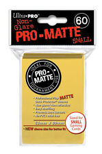 SMALL Ultra Pro Matte (60 Ct) - YELLOW - SLEEVES SMALL Size Card  YUGIOH 84268